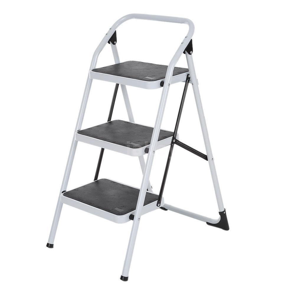 Hailo K20 Blackline Stahl Klapptritt 2 Stufen Leiter 2 Tritt 150kg max 2,25m NEU